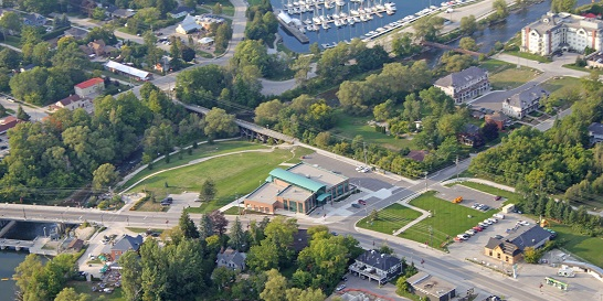 Aerial view of The Blue Mountains Town Hall