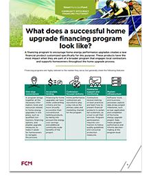 What does a successful home upgrade financing program look like?