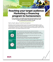 Reaching your target audience: Marketing a financing program to homeowners