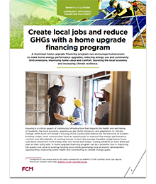 Create local jobs and reduce GHGs with a home upgrade financing program