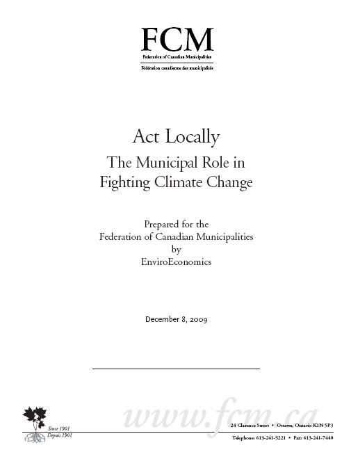Act Locally: The Municipal Role in Fighting Climate Change