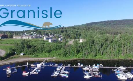 Aerial photo of the Lakeside Village of Grainisle, BC