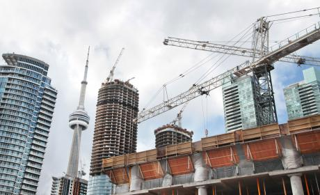 Construction in downtown Toronto