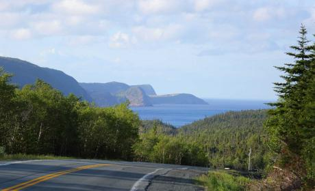 Newfoundland Mountain Scenery as seen from a highway