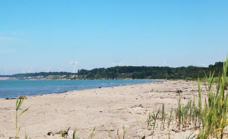 The sandy beaches of Port Burwell.